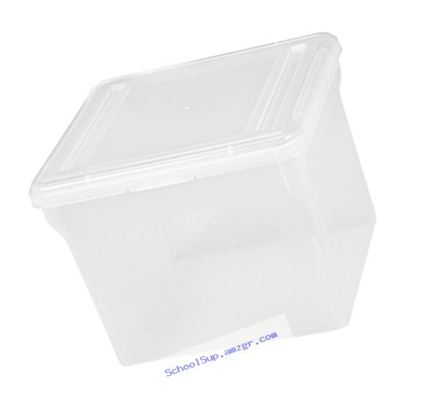 IRIS Letter Size File Cube Box, Clear