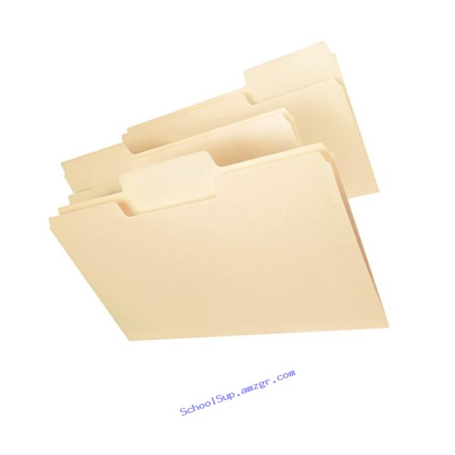 Smead SuperTab File Folder, Oversized Reinforced 1/3-Cut Tab, Guide Height, Legal Size, Manila, 100 Per Box (15395)