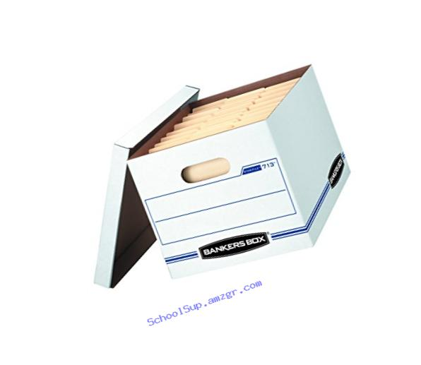 Bankers Box Stor/File Storage Box with Lift-Off Lid, Letter/Legal, 12 x 10 x 15 Inches, White, 6 Pack (0071303)