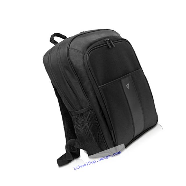 V7 17.3-Inch Water Resistant Professional 2 Laptop and Tablet Backpack, Black (CBP22-9N)