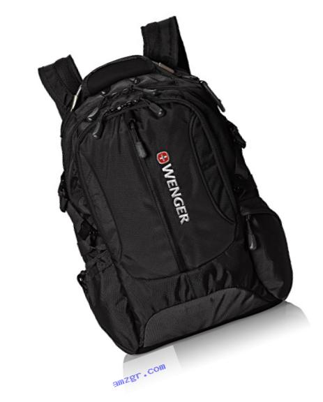 Wenger SA1537 Black Laptop Computer Backpack - Fits Most 15 Inch Laptops and Tablets