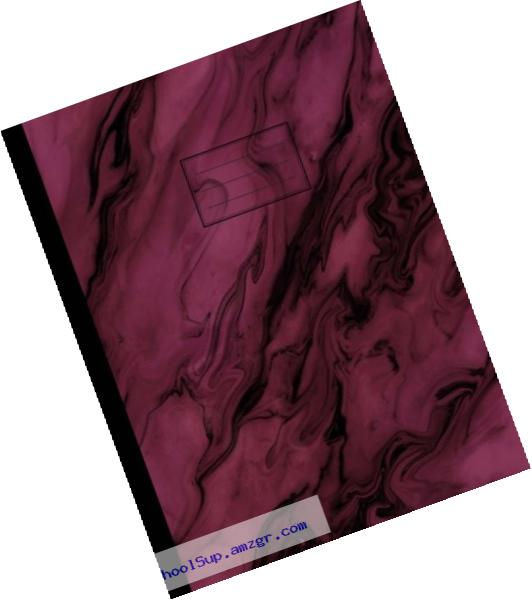 Purple Marble Composition Notebook: College Ruled, Lined Journal, Softcover, 100 sheets/200 pages, 9 3/4