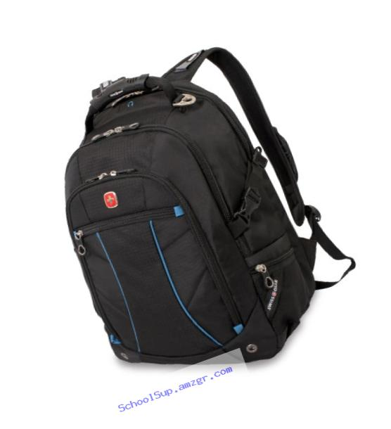 SwissGear SA3118 Black with Blue Computer Backpack - Fits Most 15 Inch Laptops and Tablets