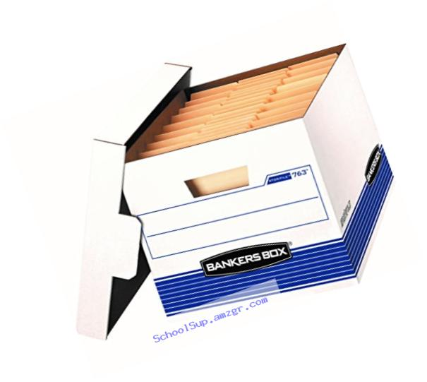 Bankers Box Stor/File Medium-Duty Storage Boxes with Lift-Off Lid, Letter/Legal, 20 Pack (0076315)