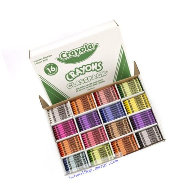 Crayola Bulk Crayons, 800 Count Classpack, 16 Assorted Colors (50 Each)