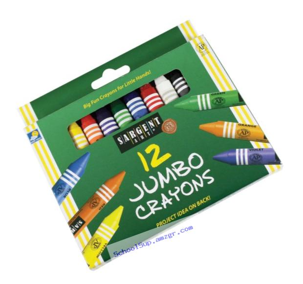 Sargent Art 55-0912 12-Count Large Crayon, Peggable