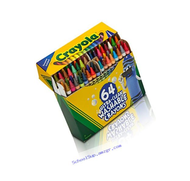 Crayola Ultra Clean Washable 64 Count Crayons